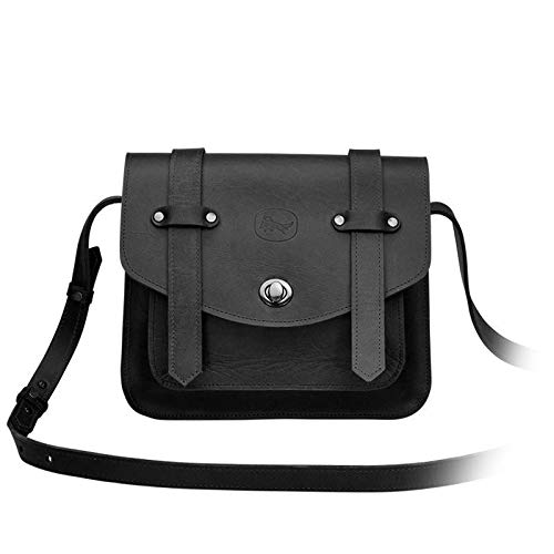Beatnik & Sons Leather Handbag Joan in Black