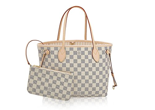 Louis Vuitton Pocket (Louis Vuitton Damier Azur Canvas Neverfull MM N41605 Rose Ballerine)