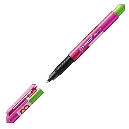 Penna roller con 1/cartuccia di inchiostro blu/ STABILO Becrazy /Viola chiaro