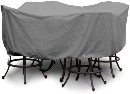 KoverRoos Weathermax 85252 Large Bar Set Cover, 84-Inch Diameter by 40-Inch Height, Charcoal