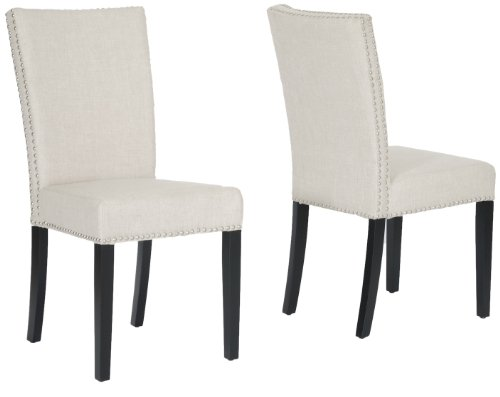 Baxton Studio Harrowgate Linen Modern Dining Chair, Beige, Set of 2
