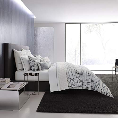 Vera Wang Shibori Grid Duvet Cover Set