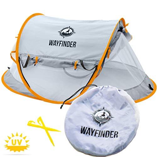 Wayfinder TravelTot, Baby Travel Tent Portable Baby Travel Bed Indoor & Outdoor Travel Crib Baby Beach Tent UPF 50+ UV…