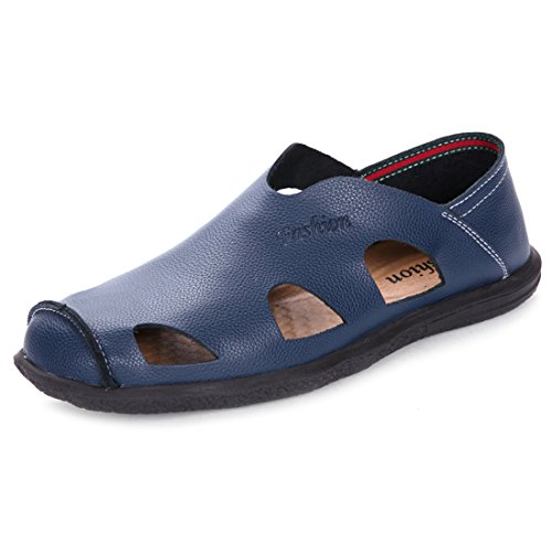 Jiyaru Hombres Sports Sandals Outdoor Hiking Fisherman Beach Zapatos Informales Azul