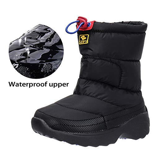 ALEADER Kids Waterproof Winter Snow Boots Outdoor Warm Ankle Shoes