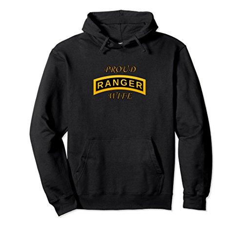 Unisex Army Ranger School Tab - Proud Wife - Hoodie 2XL Black