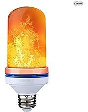 Bombilla led, GLURIZ LED Flame Effect Fire Light Bulb, 4 Modos E26 Bombilla Decorativa de Ambiente de Fuego, Luz de Llama Fuego Bulbo para el Hogar, Jardín, Fiesta, Bar, Boda, Navidad, etc