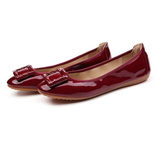 scarpe ballo basse scarpe basse morbide A da ballo in scarpe scarpe borsa da mettere piane poco Moda FLYRCX profonde pieghevoli 6Xpqw75q