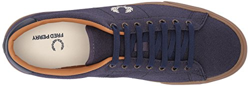 Perry Sneaker Underspin Waxed Fred Midnight Canvas Heavy Men's Navy 1WdOwnwq4R