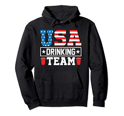USA Drinking Team Funny Drinking Beer Hoodie ()