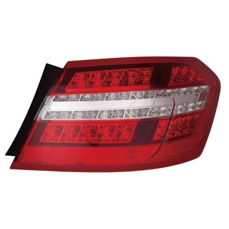 (CarLights360: Fits 2010 2011 2012 2013 MERCEDES-BENZ E350 Tail Light Assembly Driver Side w/Bulbs - Replacement for MB2804106)