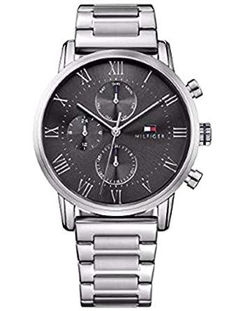 Tommy Hilfiger Herren Multi Zifferblatt Quarz Uhr mit Edelstahl Armband  1791397  Amazon.de  Uhren 87f90cdcef