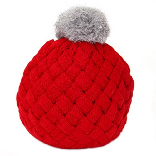 Beret Knit Pattern (Happy Cherry Baby Kids Winter Warm Knitted Crochet Beanie Hat Beret Cap-Red)