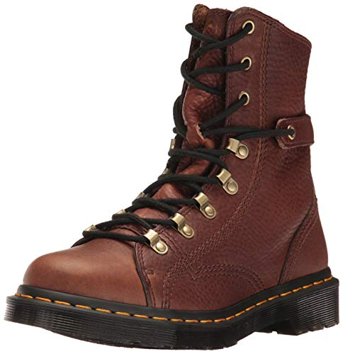 Image of Dr. Martens Men's Coraline in Dark Brown Gizzly Leather Combat Boot