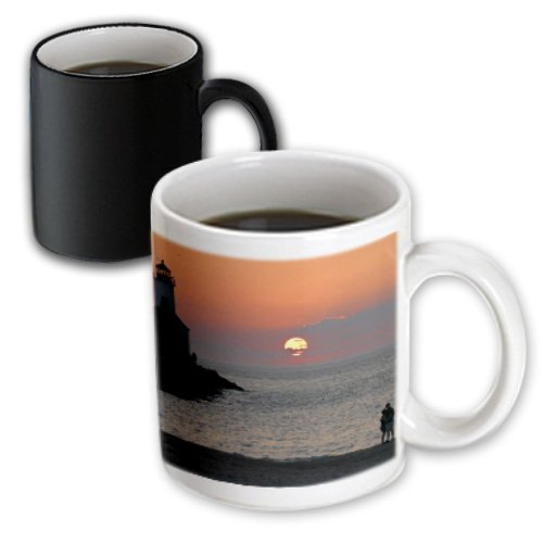 3dRose Mug USA, Indiana, Indiana Dunes State Park Lighthouse - US15 AMI0246 - Anna Miller (mug_90251_3) - 11oz - Transforming, - Outlet Lighthouse Indiana