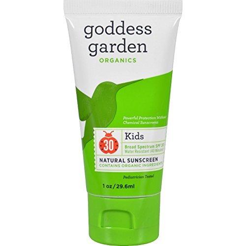 Goddess Garden Sunscreen, Natural, Sunny Kids, Broad Spectrum SPF 30, 1 FZ (Pack