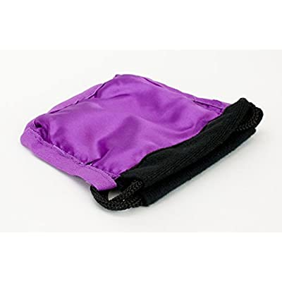 Small Dice Bag 3.75x4 Inch Velvet Double Stitched Snag Proof Satin Lining - Holds 21 Dice Comfortably - Purple Interior with Black Exterior: Toys & Games