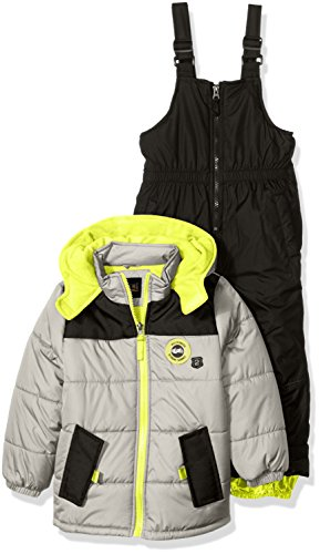 Yokes Charcoal - iXtreme Baby Boys' Colorblock with Canvas Yoke Snowsuit, Charcoal, 12 Months