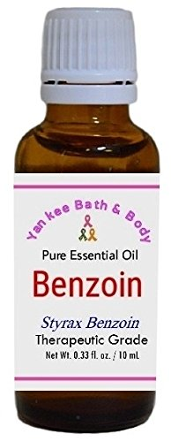 Benzoin Essential Oil (Stryax Benzoin), Therapeutic Grade, Pure and Natural (10 ml (0.33 Ounce))