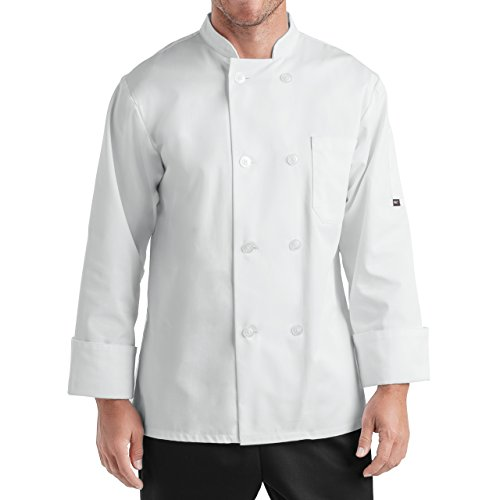 On The Line Men's Long Sleeve Chef Coat (S-2X, 2 Colors) ()