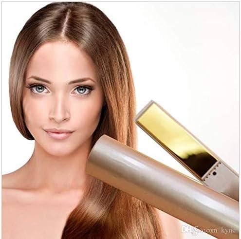 NASDI® - Alisador y rizador de pelo, 2 en 1, plancha de titanio para cabello, profesional