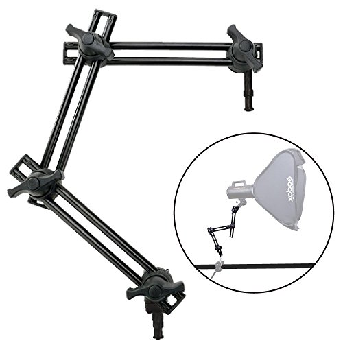 Fotoconic Studio 3-Section Double Articulating Boom Arm Holder Articulated Arm for Studio Photo Video Lighting by fotoconic