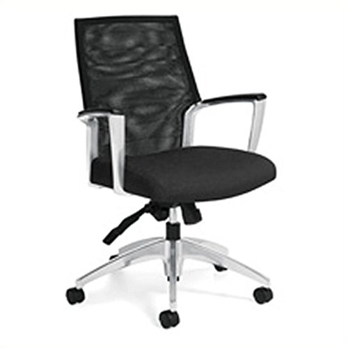 Mid Back Tilter Chair - Global Accord Multi-Tilter Mid-Back Chair, 37 1/2
