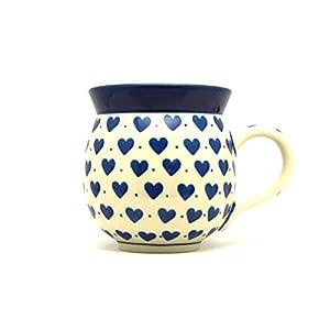 Polish Pottery Mug – 11 oz. Bubble – Hearts Delight