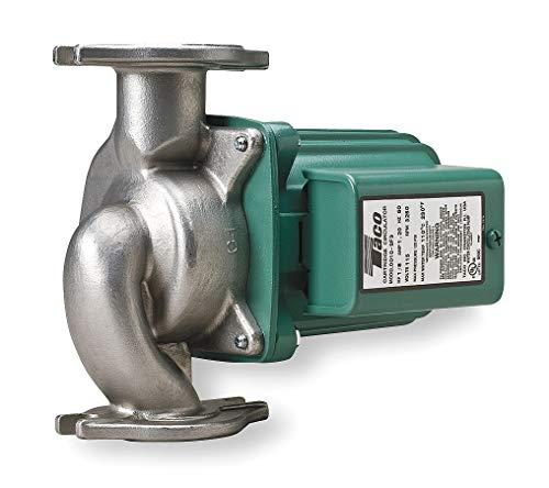 Taco 1/8 HP Stainless Steel In Line, Wet Rotor Hot Water Circulator Pump - 009-SF5