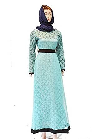 Ama Lifestyle Blue Cotton Casual Dress For Women