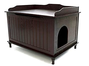 Designer Catbox Litter Box Enclosure In Espresso