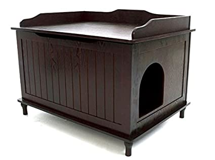 Designer Pet Products Catbox Litter Box Enclosure In Espresso
