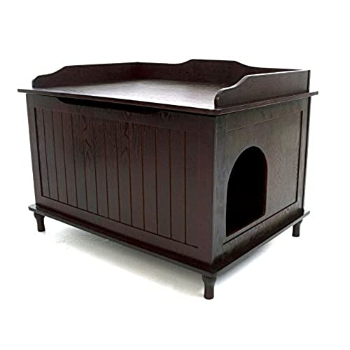 Concealed Litter Box Furniture On Designer Catbox Litter Box Enclosure In Espresso Kitty Furniture Amazoncom