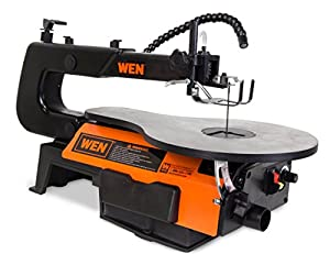 WEN 3921 16-inch Two-Direction Variable Speed Scroll Saw & OLSON SAW FR49501 Pin End Scroll Saw Blade,18 Pack