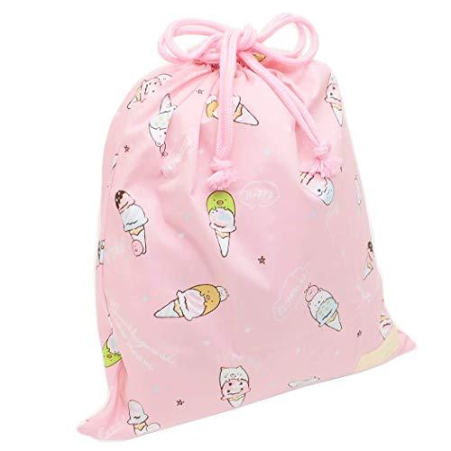 San X Sumikko Gurashi Drawstring Bag Pouch 34×38cm Pink K-1011A from Japan ()