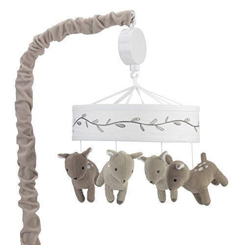 Lambs & Ivy Meadow Musical Mobile, Tan/White