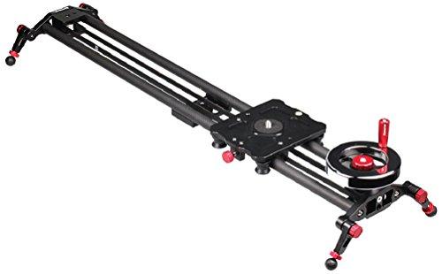 """Kamerar 31 """"Slide Motion Video Slider: Flwheel، counterweight، ریل فیبر کربن سبک ، پاهای قابل تنظیم ، دوربین تثبیت کننده دوربین / دوربین فیلمبرداری dslr ، دوربین تثبیت کننده دوربین فیلمبرداری ، نصب سه پایه آماده ، تثبیت کننده فیلمبرداری"""