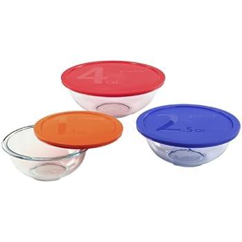Pyrex 1085308 Smart Essentials 6-Piece Mixing Bowl Set