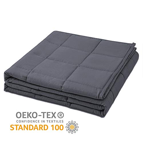 Ourea 10 lbs Cooling Weighted Blanket for Kids | 48
