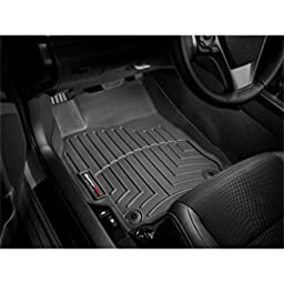 2009-2012 Ford F-150 Black Front FloorLiner vehicles with two retentiion posts (not hooks) on driver\'s side; vehicle with optional no flow through center console; Does not fit vehicles with manual 4x4 transfer case