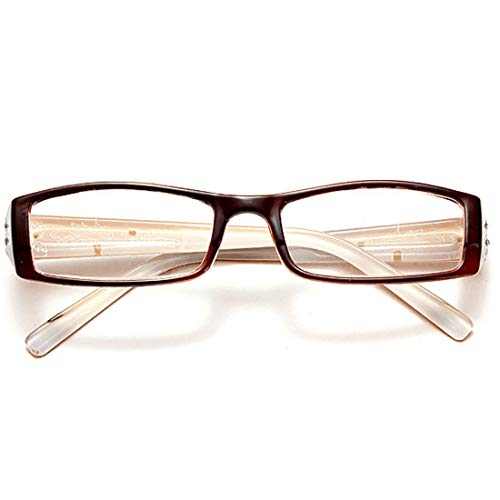 CHICLI Women Men Reading Glasses Lunettes Brown Resin, used for sale  Delivered anywhere in Canada