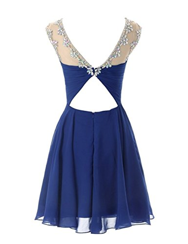 Prom Blue Brautjungfernkleides Kurz Brautjungfernkleid Crystal Damen Fanciest 2016 qgO7tt