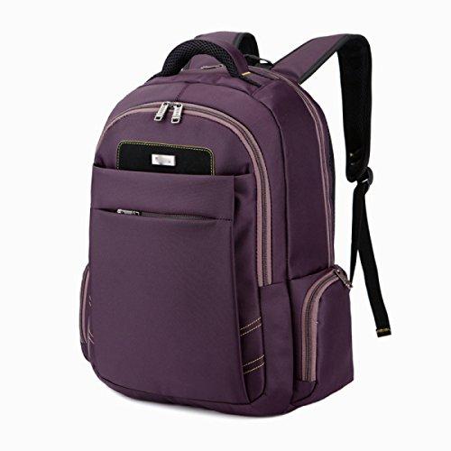 Bolso De Hombro De Computadora De Negocios De Nylon Hombres Travel Travel Laptop Bags,Black Purple