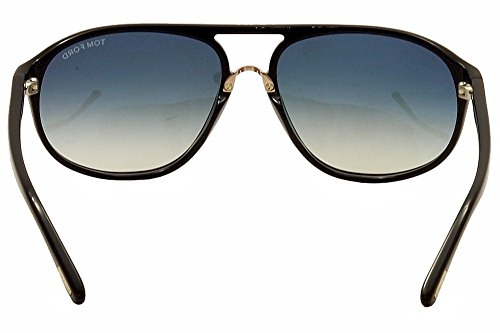 eaacee4b46b Tom Ford Men FT0447 JACOB 60 Black Blue Sunglasses 60mm at Amazon Men s  Clothing store