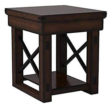 Image of Ameriwood Home Wildwood Wood Veneer End Table, Espresso Television Stands & Entertainment Centers