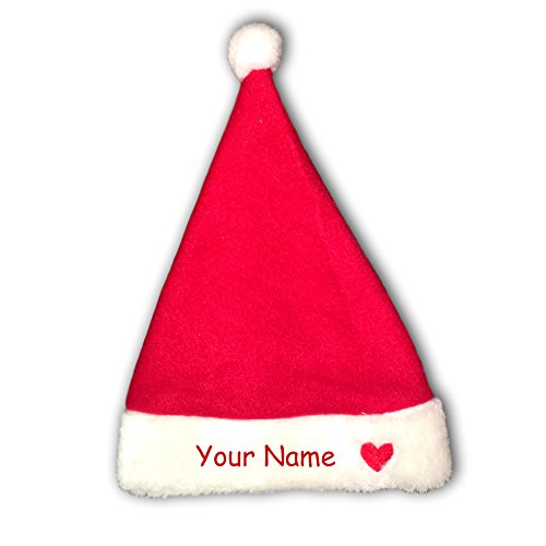 KA Yogawear Personalized Baby Christmas Santa Hat for Boy or Girl with Name