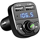 Car Kit Handsfree Wireless Bluetooth FM Transmitter Car Audio LCD MP3 Player with 3.1A Quick Charge Dual USB Car Charger