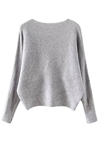 Sovoyant Batwing Crewneck Pullover Sweater