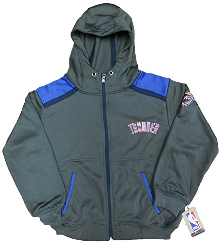Majestic Oklahoma City Thunder NBA Boys Full Zip Hoodie Charcoal Youth Sizes (M)