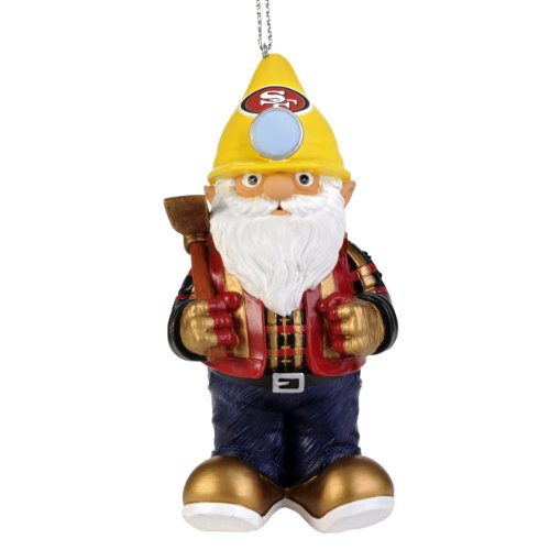 San Francisco 49ers Thematic Gnome Ornament (Tree 49ers San Francisco Sports)